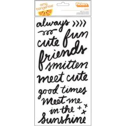 Rise & Shine Grace Phrase/Black Foam Thickers Stickers