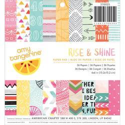 "Rise & Shine Paper Pad 6""x6"" 36 pkg"