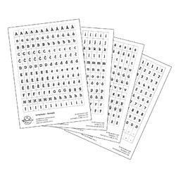 Papírové samolepky - ABC s diakritikou bílá - 1