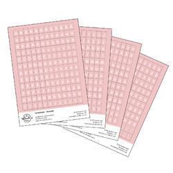 Papírové samolepky - ABC s diakritikou sv. růžová - 1