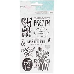 Saturday Accents & Phrases Black Foil Stickers