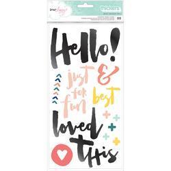 """Saturday Hello/Multicolor Chipboard Thickers Stickers 5.5""""X11"""" 2/Pkg"""