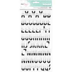 "Saturday Petals Thickers Alpha Stickers 5.5""X11"" 2/Pkg"