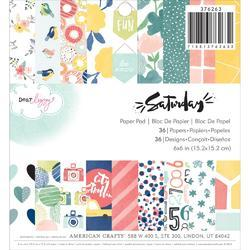 "Saturday Single-Sided Paper Pad 6""X6"" 36/Pkg"