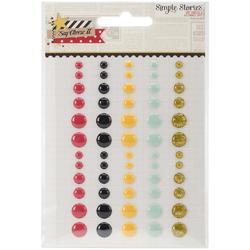 Say Cheese II Enamel Dots Embellishments - 1