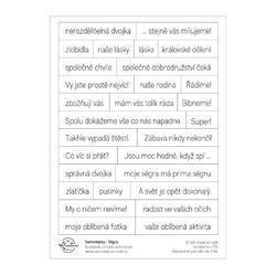 Ségry Papírové samolepky - Texty