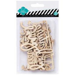 September Skies Wood Veneer Shapes 40 pkg - 1