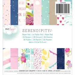 "Serendipity Paper Pad 6""x6"" 36 pkg - 1"