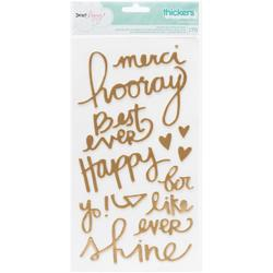 """Serendipity Thickers Alpha Stickers 5.5""""x11"""" 2pkg"""