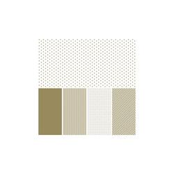 "Shape 'n Tape Washi Sheets Gold 6""x12"" 5/Pkg - 1"