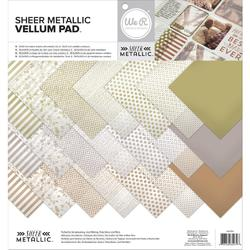 "Sheer Metallic Vellum Pack 12""x12"""