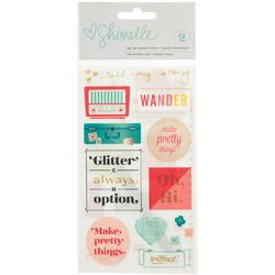 Shimelle Accent & Phrase Rub-Ons 2 sheets - 1