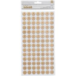 Shimelle Dunbar/Gold Foil Thickers Alpha Stickers - 1