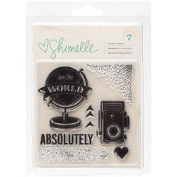 Shimelle See The World Clear Acrylic Stamps - 1