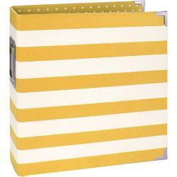 "Sn@p! Yellow Stripe Designer Binder 6""x8"" - 1"