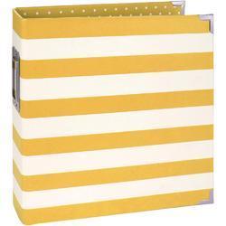 """Sn@p! Yellow Stripe Designer Binder 6""""x8"""" - 1"""