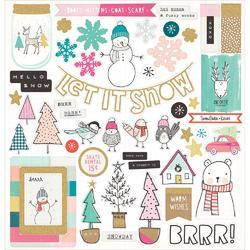 "Snow & Cocoa Icons Adhesive Chipboard 12""X12"""