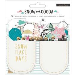 Snow & Cocoa Mason Jar Pockets 6/Pkg