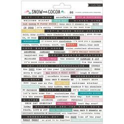 Snow & Cocoa Phrase Stickers 84/Pkg