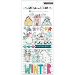 Snow & Cocoa Puffy Stickers 36/Pkg