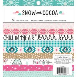 "Snow & Cocoa Single-Sided Paper Pad 6""x6"" 36/Pkg"