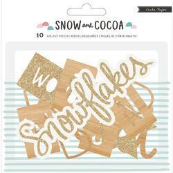 Snow & Cocoa Wood Die-Cuts 10/Pkg