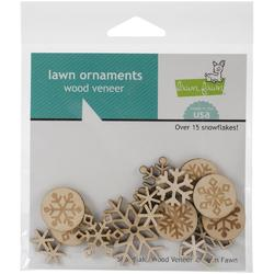 Snow Day Lawn Ornaments Wood Veneer - 1