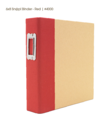 "Sn@p! Binder Album - Red 6""x8"" - 1"