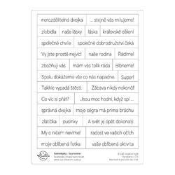 Sourozenci Papírové samolepky - Texty