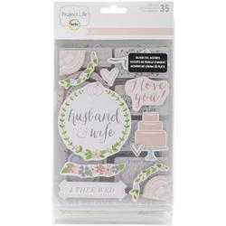 Southern Weddings Project Life Chipboard Stickers - 1