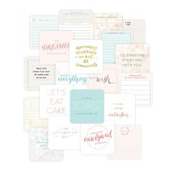 "Southern Weddings Project Life Die-Cut Card Pack 4""x4"" 12 pkg"