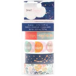 Star Gazer Washi Tape 6/Pkg