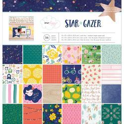 "Star Gazer W/Copper Foil Single-Sided Paper Pad 12""X12"""