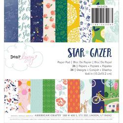 "Star Gazer W/Copper Foil Single-Sided Paper Pad 6""X6"" 36/Pkg"