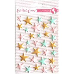 Stars color Puffy Stickers