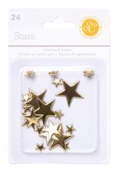 Stars Gold  Chipboard Shapes 24 pkg - 1