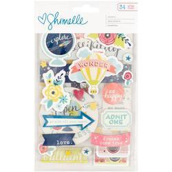 Starshine Chipboard Stickers 3 sheets