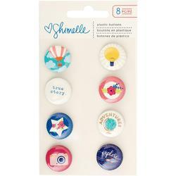Starshine Flair Plastic Buttons 8 pkg