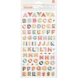 Starshine Marquee/Multi Chipboard Thickers Alpha Stickers