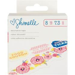 Starshine Ticket & Flower Shapes Tape Stickers