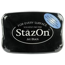StazOn Solvent Ink Pad - Jet Black - 1