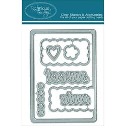 Scalloped Die Card - 1