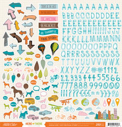 Here & There - Sticker Sheet 12x12 - Studio Calico