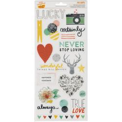 Stitched Accent & Phrase Transparent Stickers 2 sheets - 1