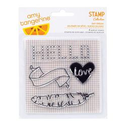 Stitched Day Dream Clear Acrylic Stamps - 1