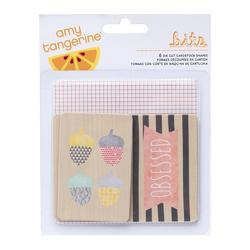 Stitched Die-Cut Printed Chipboard 6 pkg - 1