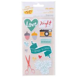Stitched Fabric Stickers