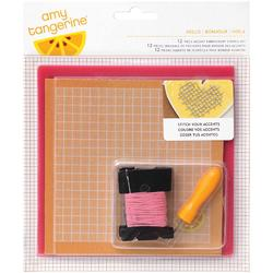 Stitched Hello 12 Piece Embroidery Stencil Kit - 1