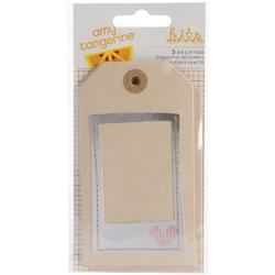 Stitched Layered Tags 5 pkg - 1
