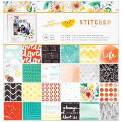 """Stitched Paper Pad 12""""x12"""" - 1"""